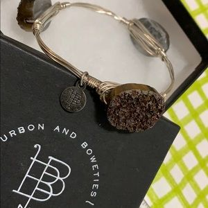 Bourbon and Boweties bracelet with sparkly brown